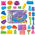 Sand Magic Amazing Space Play Sand Fun Little Toys Sculpts Castle Architecture Set 28 pcs Molds Tool Kit - Includes 3lb Sand Packs and 1 Sand Tray