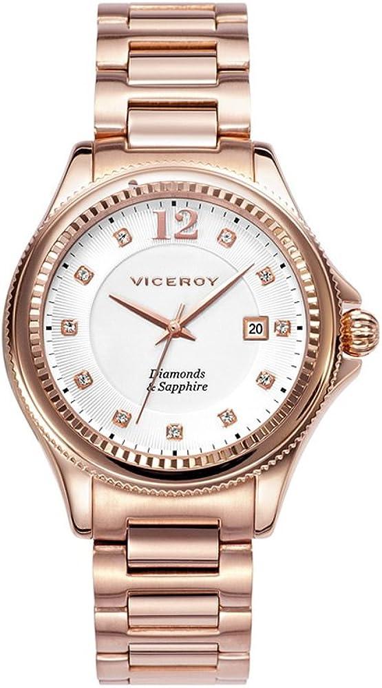 Viceroy 47890–95 - Reloj Penélope Cruz para Mujer, Cristal Zafiro y Diamantes