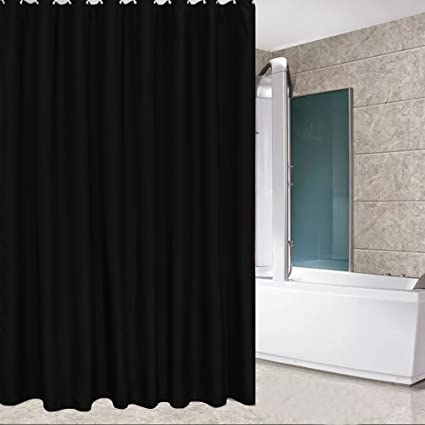 Image Unavailable Not Available For Color Eforcurtain Standard Size Solid Fabric Shower Curtain
