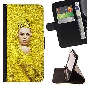 Momo Phone Case / Flip Funda de Cuero Case Cover - Moda Mujer Diseño de Primavera - Motorola Moto E ( 1st Generation )