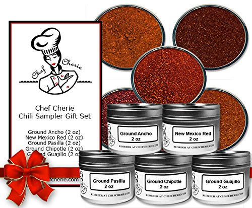 Chef Cherie's Chili Gift Set -Contains 5 2 Oz. Tins