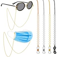 Gafas de moda para mujer Cadenas de lentejuelas negras Cadenas antideslizantes Gafas Titular del cord/ón Correa para el cuello Gafas para leer Cuerda Negro
