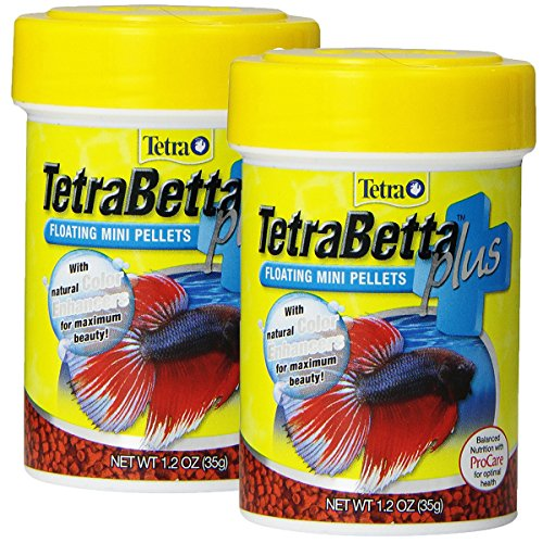 Tetra 77256 TetraBetta PLUS Mini Pellets, 2.4-Ounce