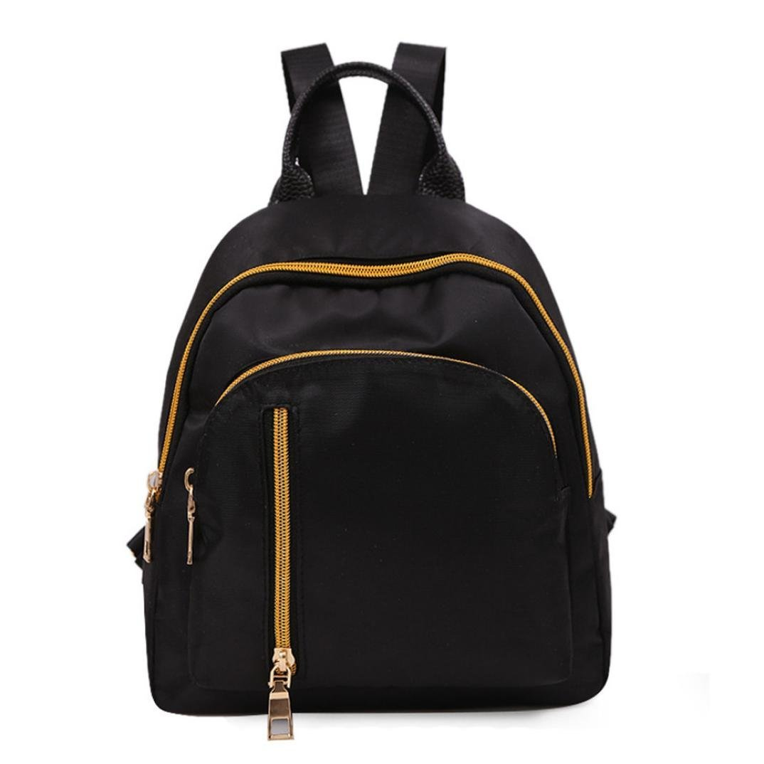 2018 New! Paymenow Women Backpack Purse Rucksack Lightweight School Shoulder Bag College Backpack Travel School Bag Daypack (Black)