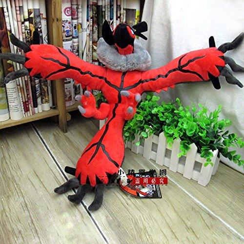 tongrou Pokemon Yveltal Plush Figure Stuffed Soft Pokedoll Animal Toy Figurine New