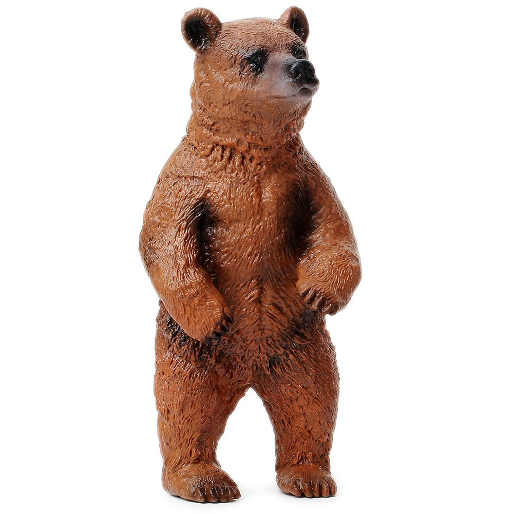UANDME Miniature Grizzly Bear Toy Figurines, Set of 3 Bear Figures, North American Wildlife Grizzlies Male, Female and Cub (Set) by UANDME (Image #4)