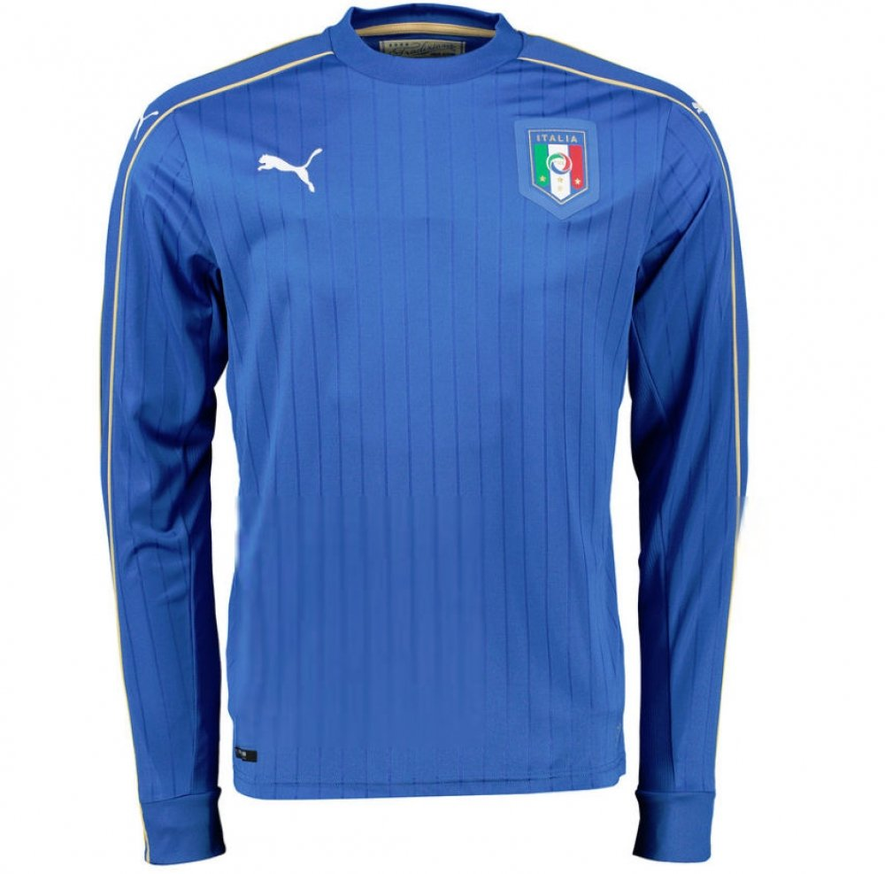2016-2017 Italy Long Sleeve Home Shirt (Your Name) by UKSoccershop