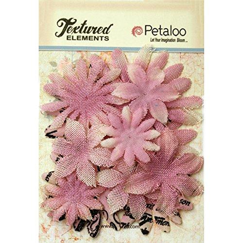 (PETALOO Textured Elements Burlap/Canvas Daisy Layers (15 Pack), 2.5