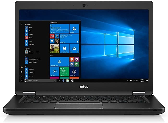 Dell Latitude 5480 Intel Core i7-7600U X2 2.8GHz 16GB 500GB 14in Win10, Black (Renewed)