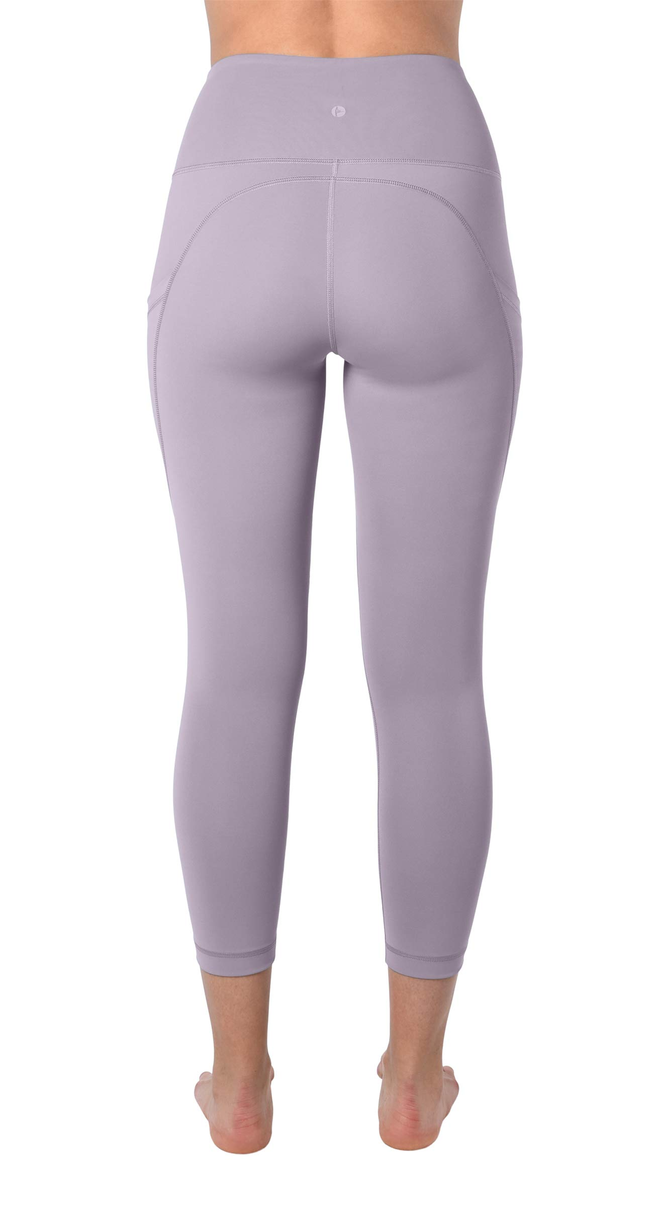 90 Degree By Reflex 22'' Yoga Capris - Yoga Leggings - Yoga Capris for Women - Iced Mauve - XS by 90 Degree By Reflex (Image #3)