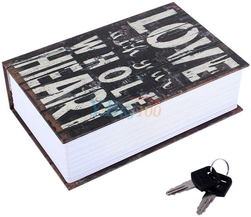 SAFEPRINT Tyon Vintage libro Caja fuerte con llave, libro de caudales oculta en el diccionario resistente al fuego, buchsafes getarnt como Roman 18 x 11.7 x 5.5 cm love: Amazon.es: Hogar