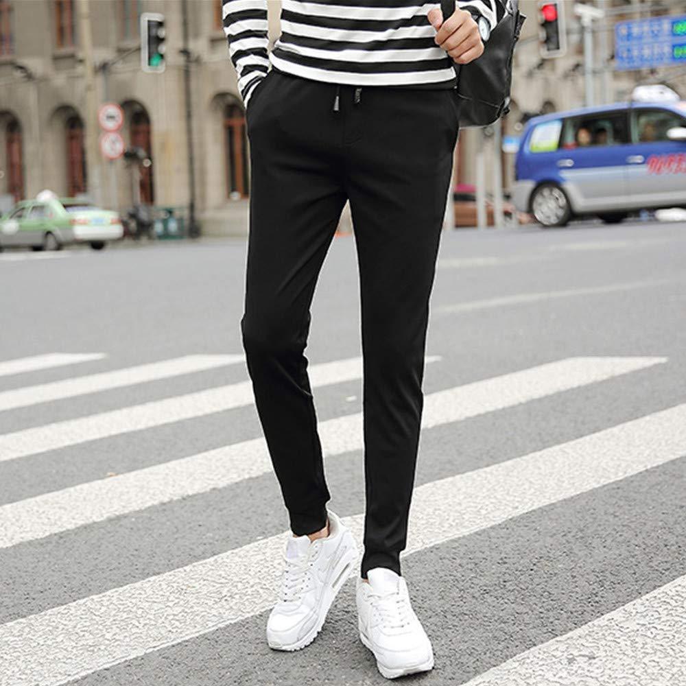 Vpass Pantalones Para Hombre Pantalones Moda Pop Casuales Chandal De Hombres Jogging Color Solido Negro Pants Trend Largo Pantalones Diseno De Personalidad Hombre Pantalones