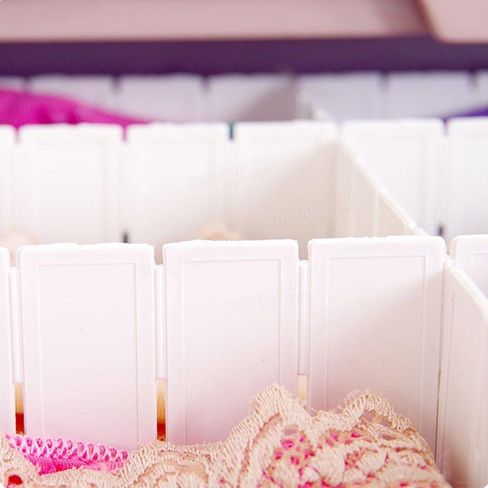 6/x cabinet assicella Favolook bianco cassetti divisori organizzatori per intimo Socks Bras Ties Belts scarves set