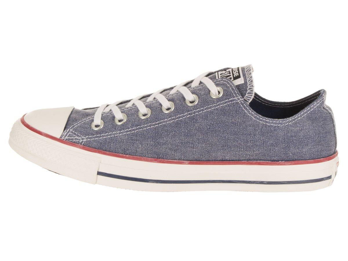 Converse Chuck Taylor All Star Canvas Low Top Sneaker B073BNPWHQ 8.5 US Men/10.5 US Women|Navy/Navy/White