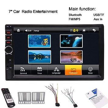 Estéreo de 7 pulgadas de coches sin GPS Bluetooth táctil ...