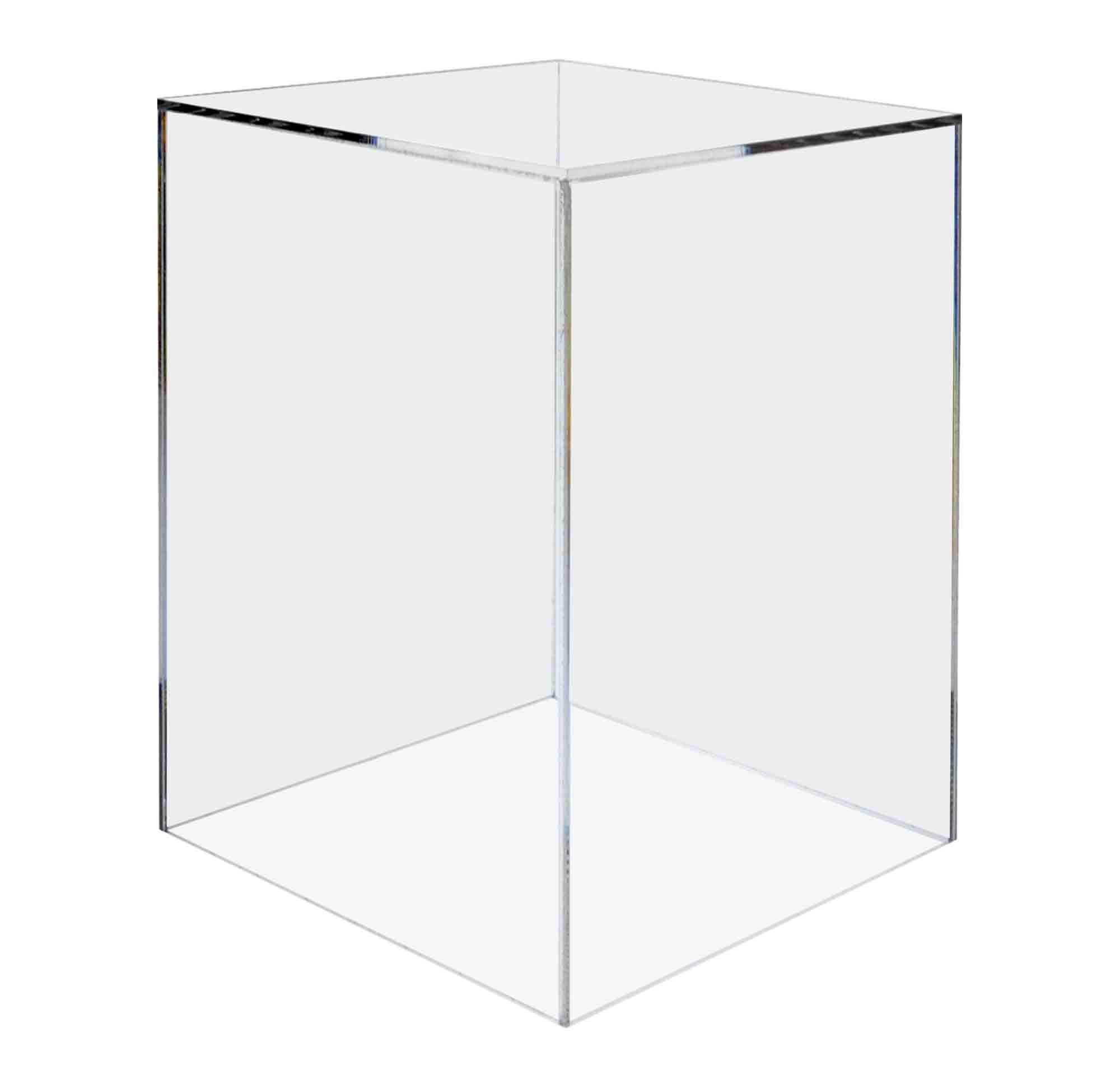 Marketing Holders Acrylic Jewelry Display Box Cube Toys Trinkets Collectible Items Safety Dust Cover Square 5 Sided Show Case Art Easel Pedestal Display 12''w x 16''h x 12''d Pack of 1