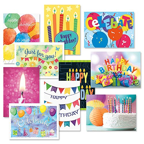 Graphic Birthday Greeting Cards Value Pack - Set of 20 (10 designs), Large 5