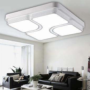 ETiME 52x52cm Design LED Deckenlampe Led Deckenleuchte Wohnzimmer ...