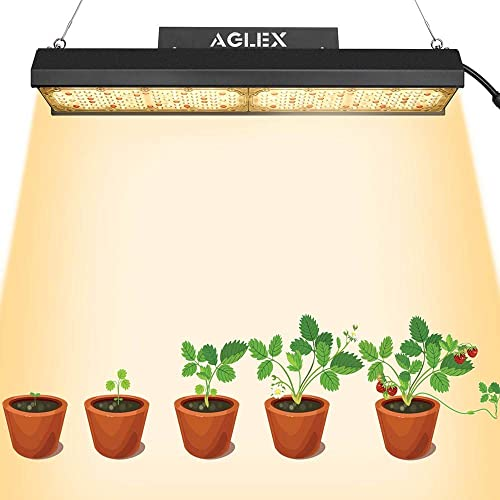 AGLEX LED Plant Grow Light Bar- G110W Sunlike Full Spectrum LED Grow Light for Indoor Plants Fanless with Superior LM301B Chip and UL Listied IP65 Waterproof Power Driver