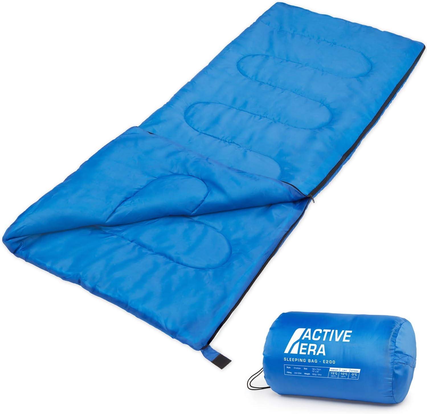 Active Era Saco de Dormir Premium 200, de Forma Rectangular, Extremadamente Ligero: Amazon.es: Deportes y aire libre