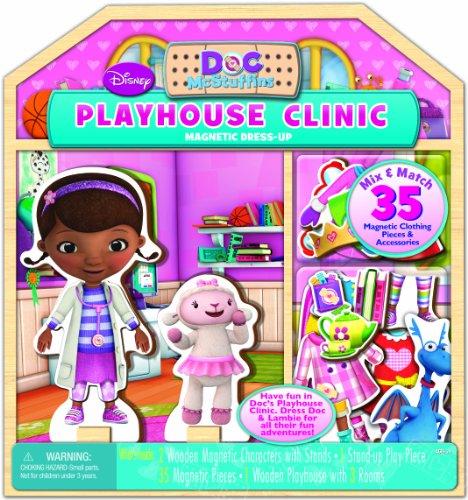 Bendon Disney Doc McStuffins Wooden Magnetic Playhouse (35-Piece) - Doc Mcstuffins Doll House