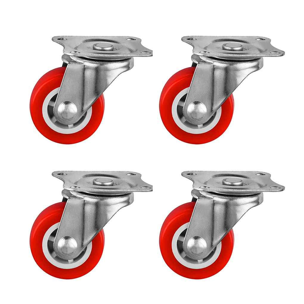 Level 4 Pezzi Diametro 40mm Universale in Fit Sedia Ufficio Caster Wheels per Gli elettrodomestici Tavolino Rollerblade Style