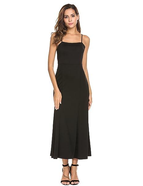 ACEVOG - Vestido - Noche - para mujer negro L: Amazon.es: Ropa y accesorios