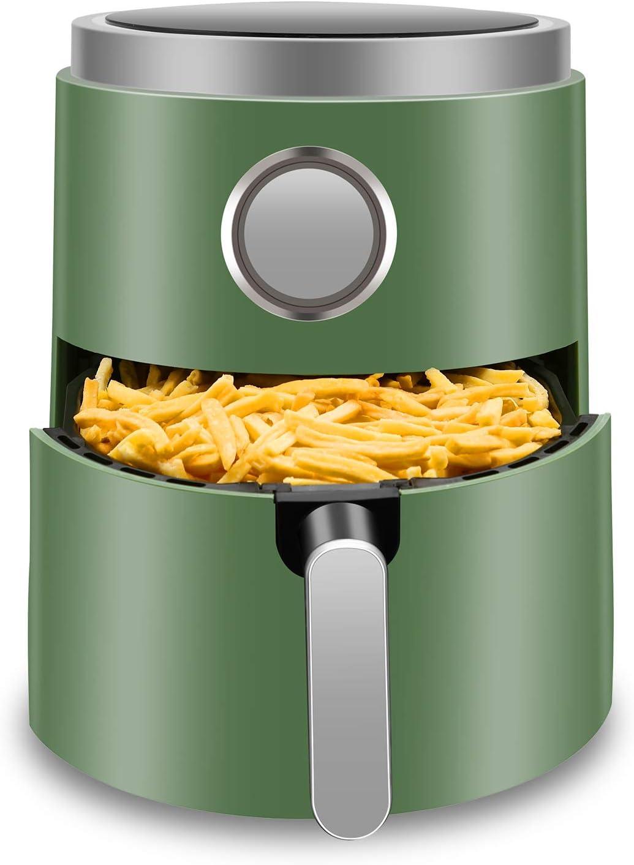 Antarctic Star 5.2 Quart Air Fryer Hot Deep Fryer Free Chip Digital Touch Screen 7 Presets, Auto Shutoff Nonstick Basket with Cookbook Oilless Cooker Roasting/Baking 1400W,GREEN