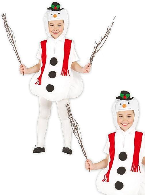 Disfraz de muñeco de nieve infantil 5-6 años: Amazon.es: Juguetes ...