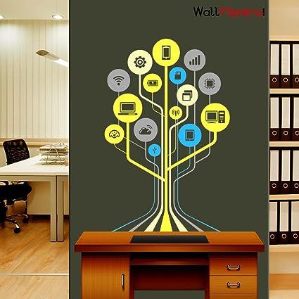 Buy Wallmantra Technology Tech Tree Self Adhesive Vinyl Wall Sticker
