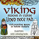 VIKING Swear And Curse Coloring Note Pad 24 Nordic Designs Viking Lined