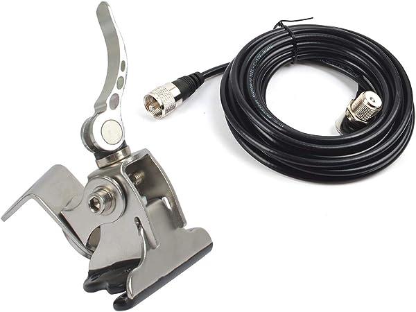 Hys Auto Antennenhalterung Aus Edelstahl Für Den Kofferraum Deckel Mit Schrägheck Verstellbarer Winkel Mit So239 Auf