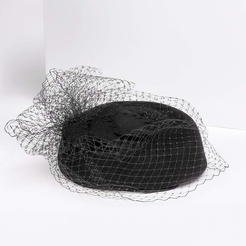 Ladies Fashion Pillbox Hats Street Cocktail Tea Party Derby Black Top Hats