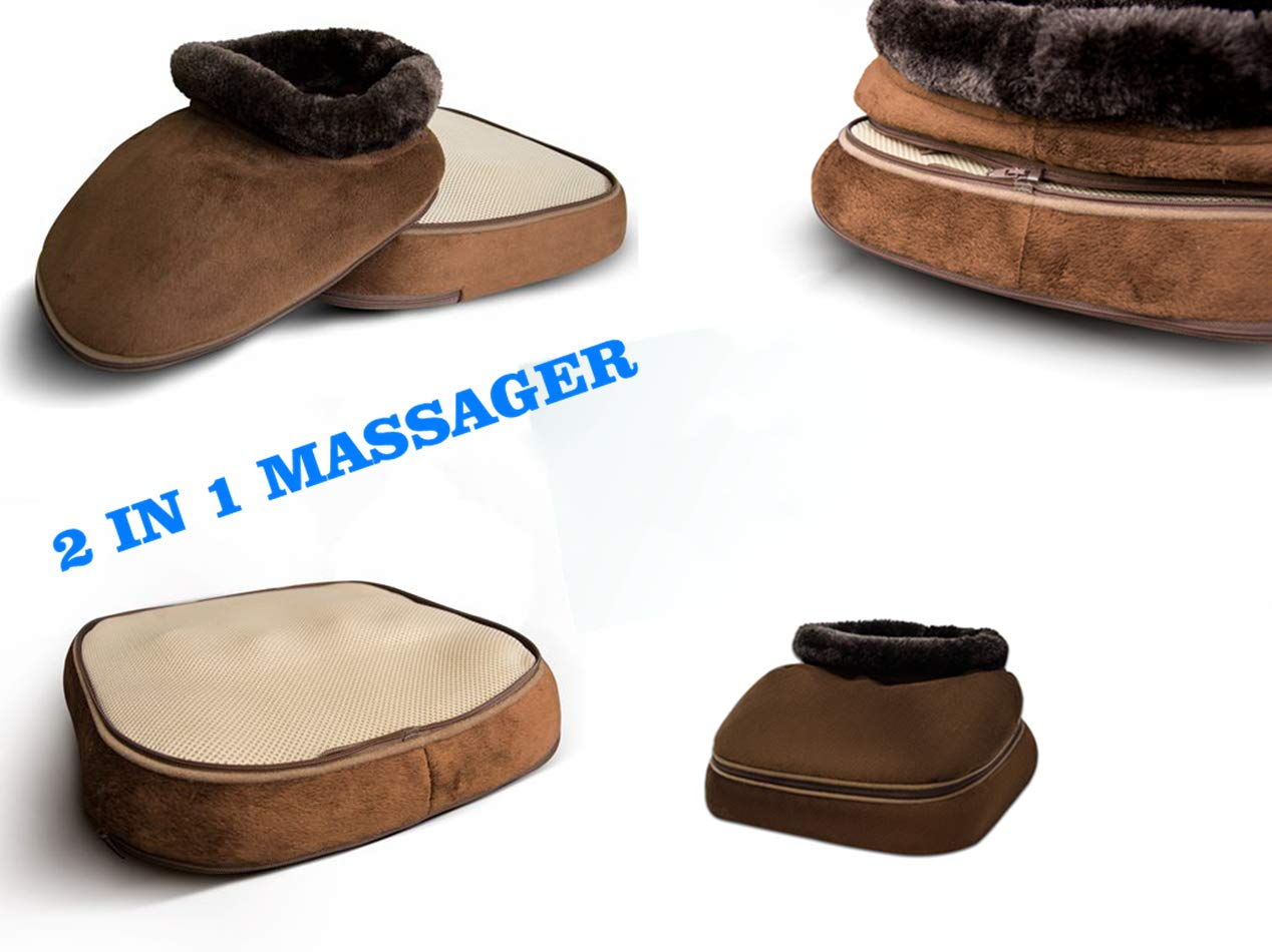 Aront Shiatsu Foot Massager with Heat-2 in 1 Back Massager with Kneading Cushion-Use for Back,Leg,etc.