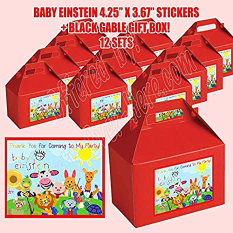 Amazon Com Dwp Sp678 45rd Baby Einstein Party Favor Boxes With