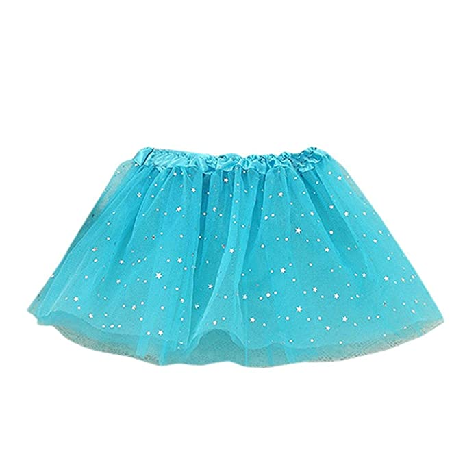 Baby Kleid Sterne Pailletten Partei Tanzen Ballett Rock Kleid (Blau ...