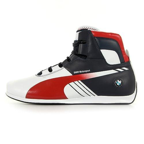 Puma BMW EVOSPEED 1.3 MID AC Zapatillas Sneakers Blanco Azul Rojo para Hombre: Amazon.es: Zapatos y complementos