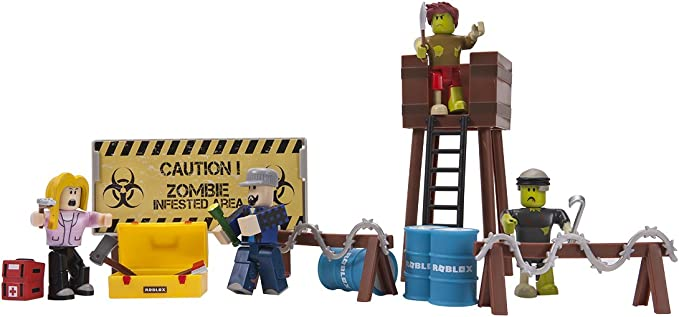 Amazon Com Roblox Zombie Attack Large Playset Toys Games
