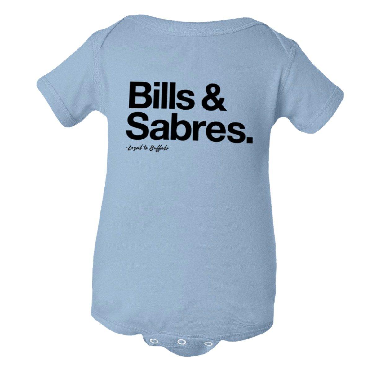 PleaseMeTees Baby Creeper Loyal Bills Sabres Sports Hockey Football 1-Pc Jumper