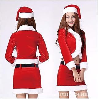 SDLRYF Père Noël Costume Costume De Noël Les Hommes Et Les Femmes Adultes Santa Costumes Uniformes Parti
