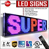LED SUPER STORE: 3Color/RBP/P15mm/IR - 12''x41'' Remote Control, Outdoor Programmable Message Scrolling EMC Signs Display, Reader Board