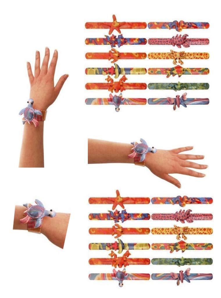 24 x Tier Snap Armband Kinder Kids Beute Goody Partytüten Pimpernuss Füllstoffe Spielzeug