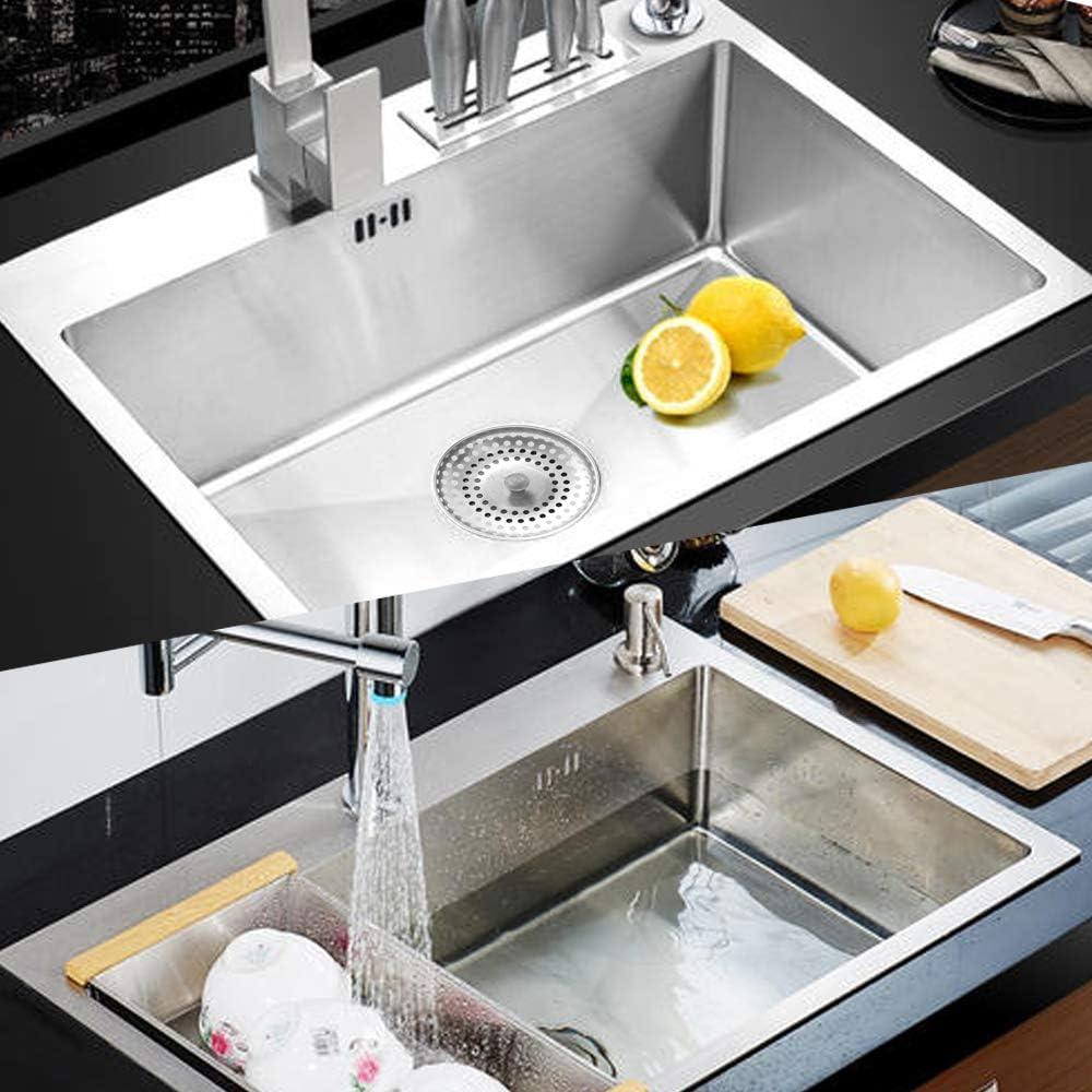 el lavabo del ba/ño y los escombros DOUYAO 2PCS Filtro fregadero,Tap/ón de fregadero de acero inoxidable,desague fregadero,tapon fregadero,Puede evitar que el fregadero de la cocina