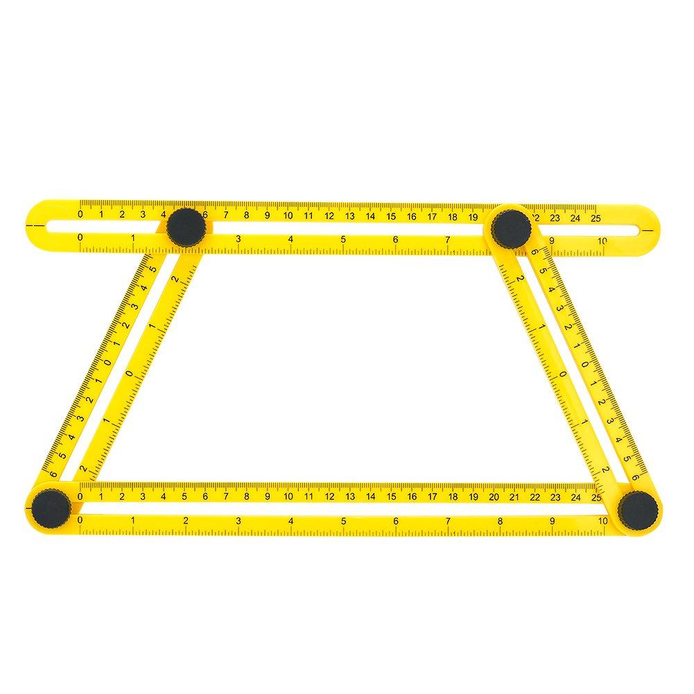 GYMAN Multi-Angle Measuring Ruler Angle Izer Template Tool for Handyman Builders Craftsman DIY-ER by GYMAN (Image #3)