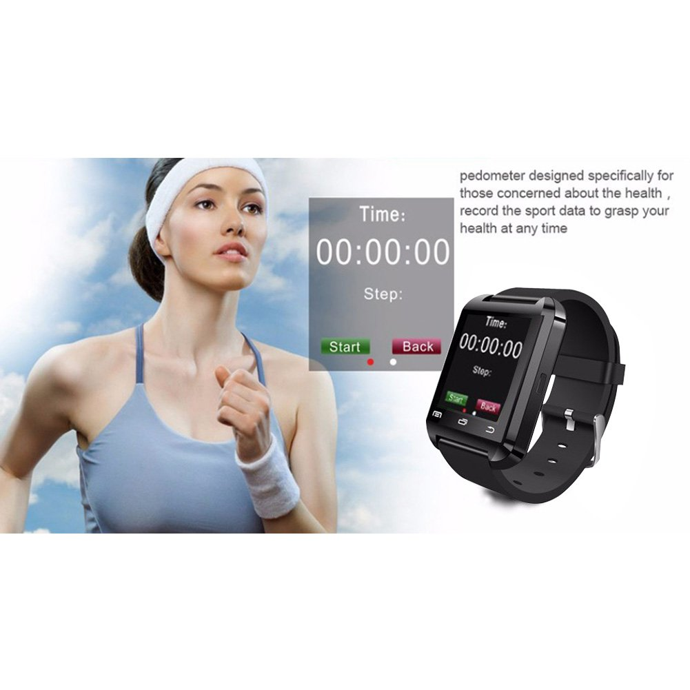 DOESIT Touch Screen Smartwatch U8 Bluetooth Smart Watch for Samsung Galaxy HTC Nexus Sony LG Huawei Android Smartphones by DOESIT (Image #3)