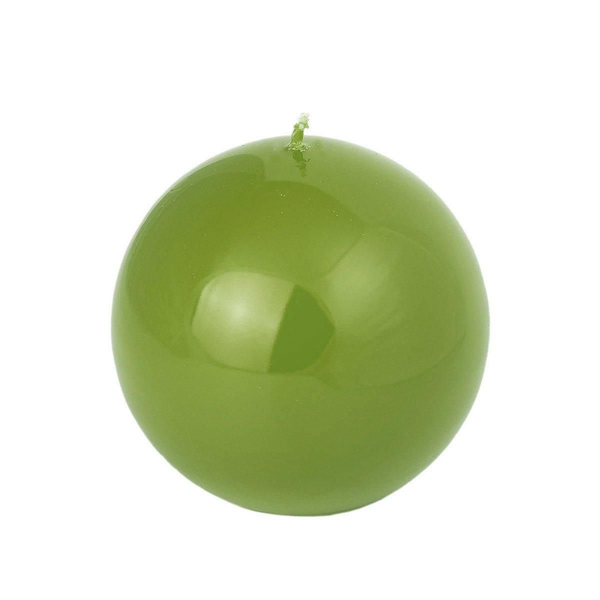 Magnifique brillante olivgrü ne Boule Bougies 4 tailles, vert olive, Komplettset alle 4 Grö ß en Komplettset alle 4 Größen Adpal Kerzenmanufaktur