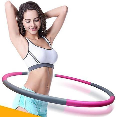 Largeur R/églable Lintelek Hula Hoop Cerceaux de Fitness Professional D/émontable avec Mousse Diam/ètre: 75-95cm 0,8kg de Poids avec Mini Ruban pour Adultes Enfants
