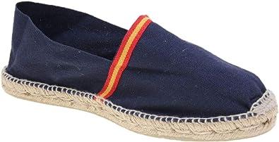 Alpargata Piso Yute y Tejido Lona Bandera ESPAÑA Made IN Spain Cosido A Mano (Marino, Numeric_45): Amazon.es: Zapatos y complementos