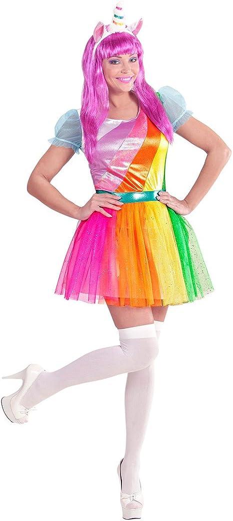 NET TOYS Disfraz Mujer Unicornio - S (ES 36/38) | Vestido Colorido ...