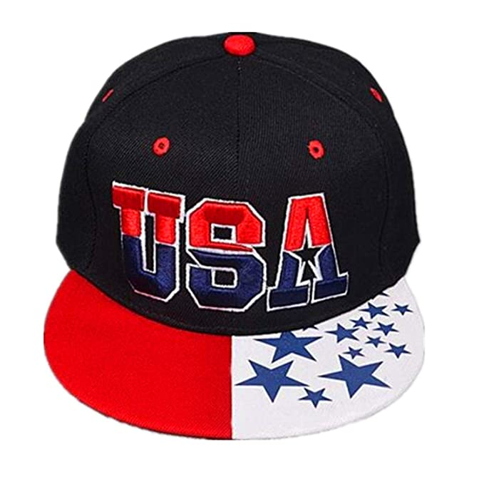 Amazon.com: 2019 New American Flag Snapback Hats Brand USA Gorras Hip hop Snapback Caps Men Women Baseball Cap Bones: Clothing